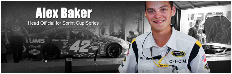 PHCC Motorsports Alum - Alex Baker, Head Official for Sprint Cup Series